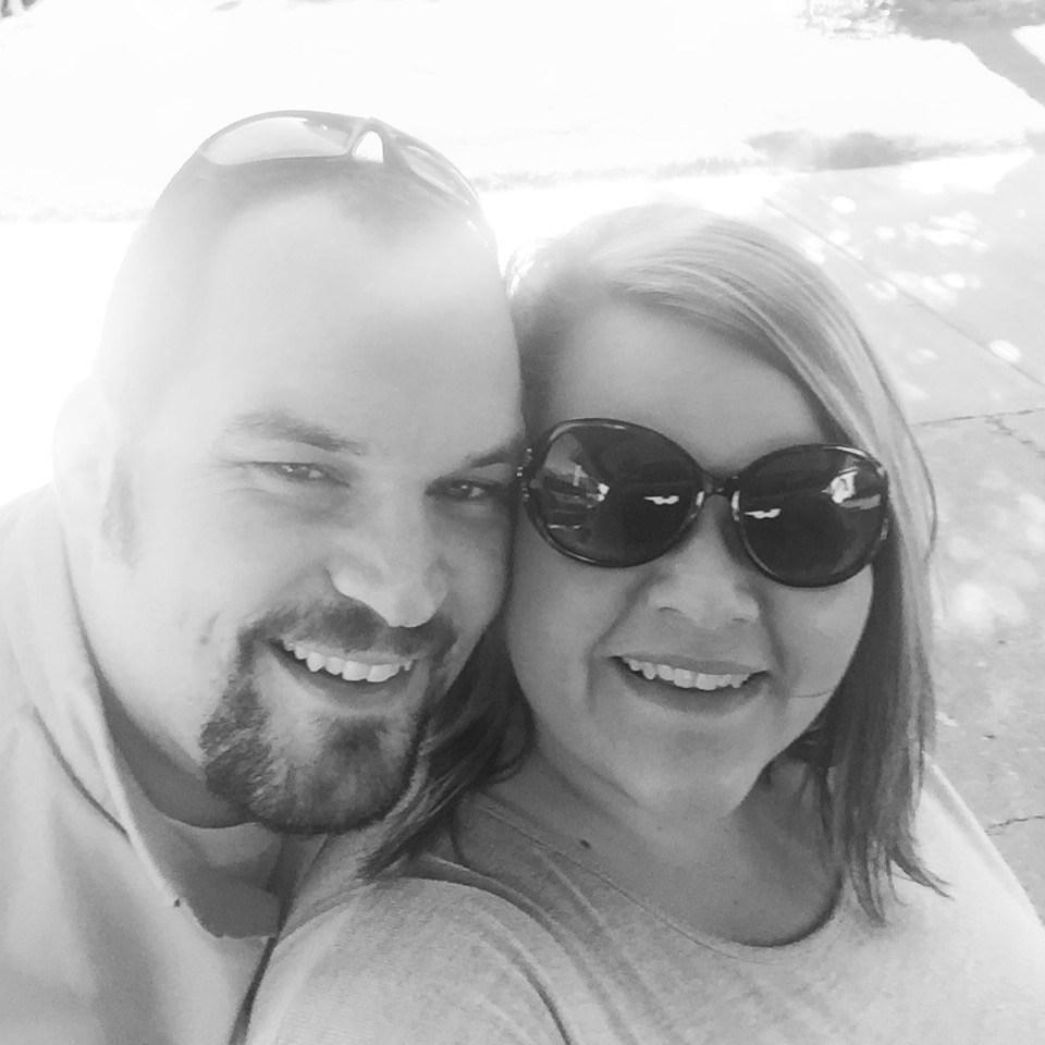 My husband, Derrick, and I!