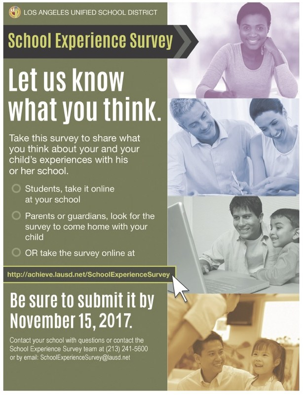 Annual School Experience Survey 2017 for LAUSD Featured Photo