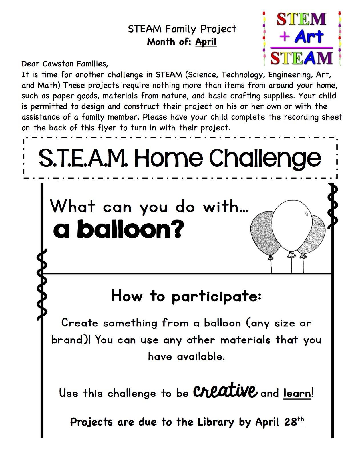 April STEAM Challenge