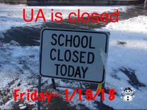 School Closed- Friday 1/19/18