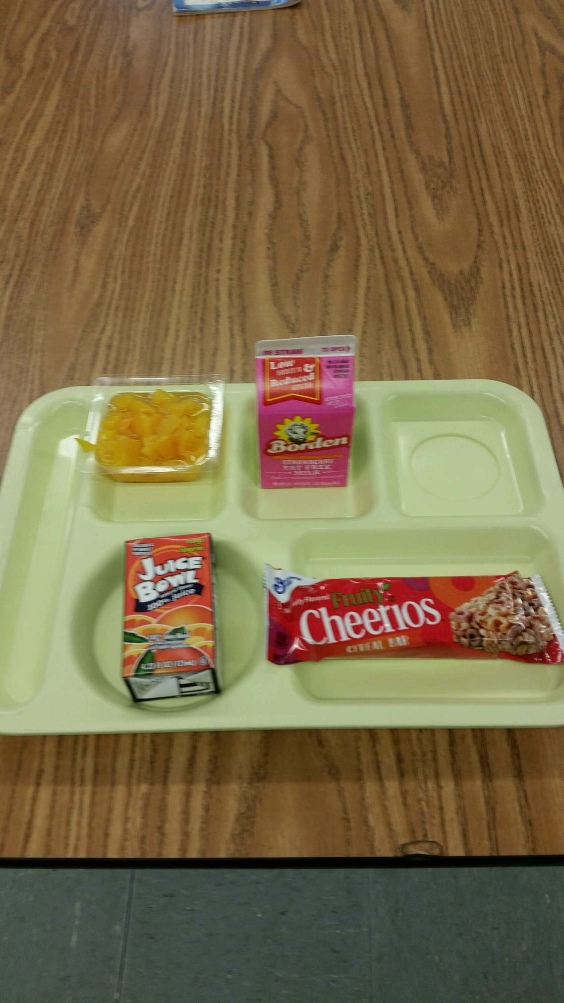 cereal bar breakfast tray