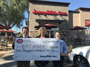 Jersey Mike's Check Presentation to the WiSH Education Foundation