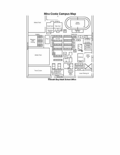 Mchs Campus Map.Mira Costa High School Center Locations South Bay Adult School