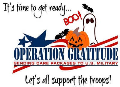 Operation Gratitude Collection of Candy for Our Troops At BES, CCI, CTE