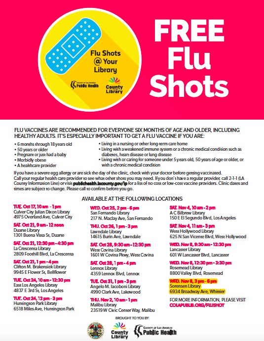 Free Flu Shot Clinic