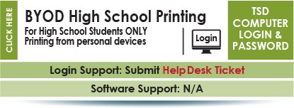 Bring Your Own Device High School Printing information.  Information for students who bring their own personal devices to high school.  Contact yoru building tech for support.