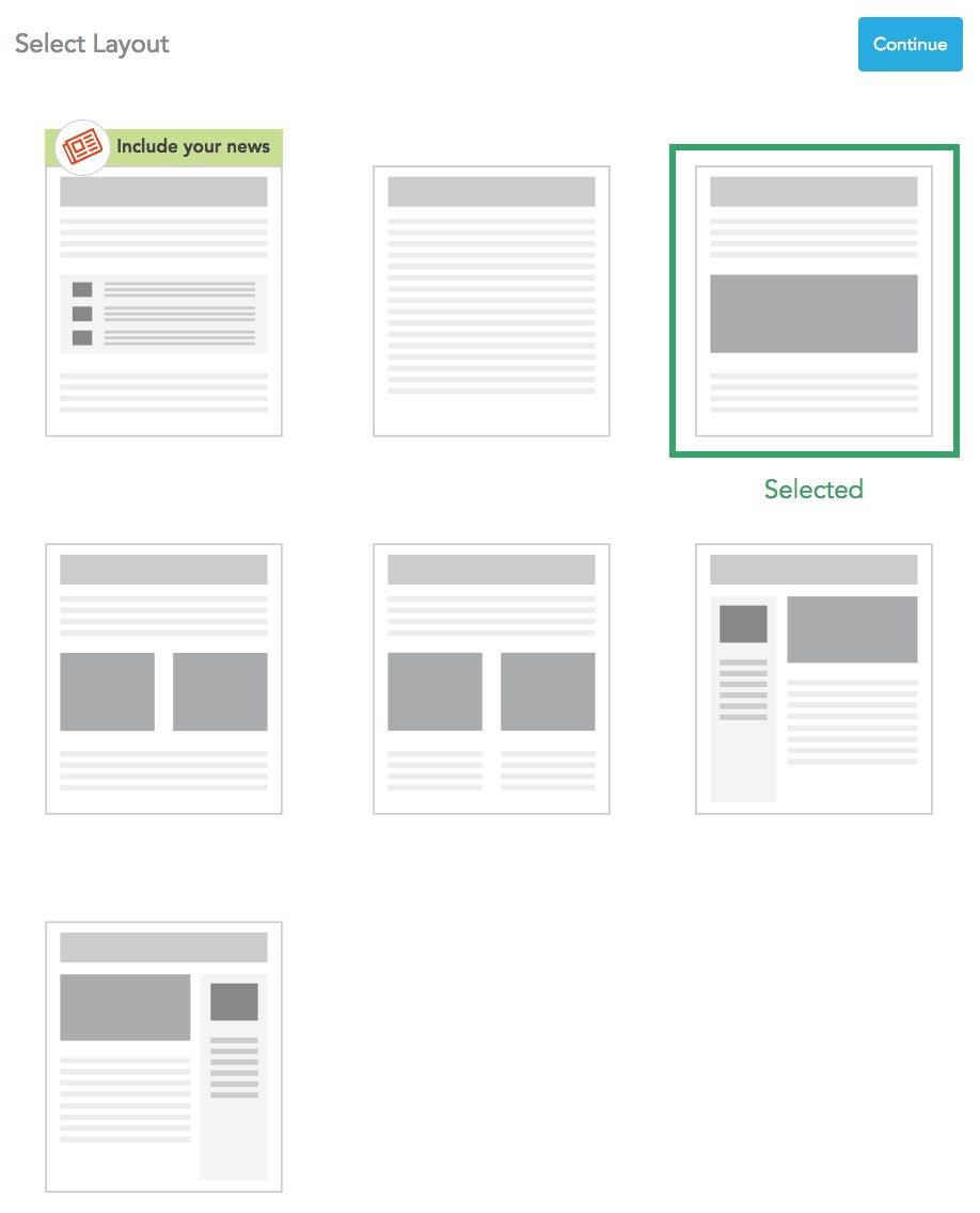 Select a layout
