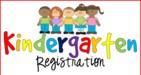 cartoon characters of students with Kindergarten written below them