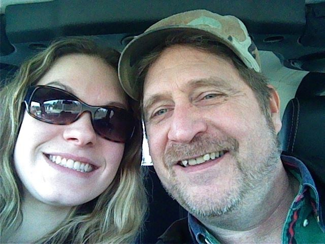 My dad and I taking selfies!