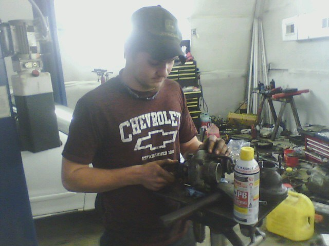 Dalton, WCHS intern at Spears Automotive Center