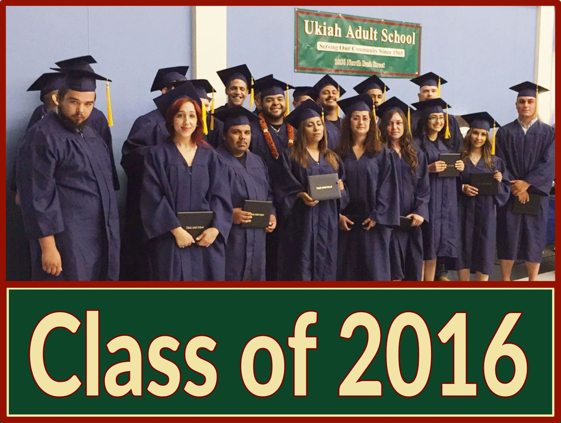 Image of the graduating class of 2016.