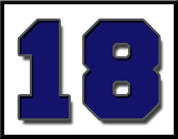 Image of the Number 18 for countdown to graduation