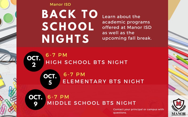 Back To School Nights in October to Bring Together Families, Campuses Thumbnail Image