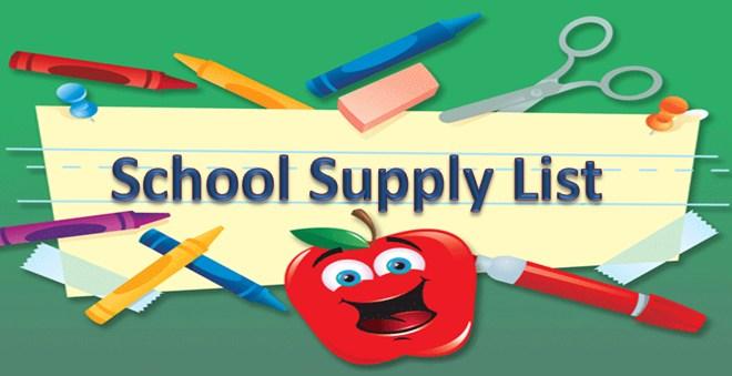 School Supply List 2017-18 Thumbnail Image