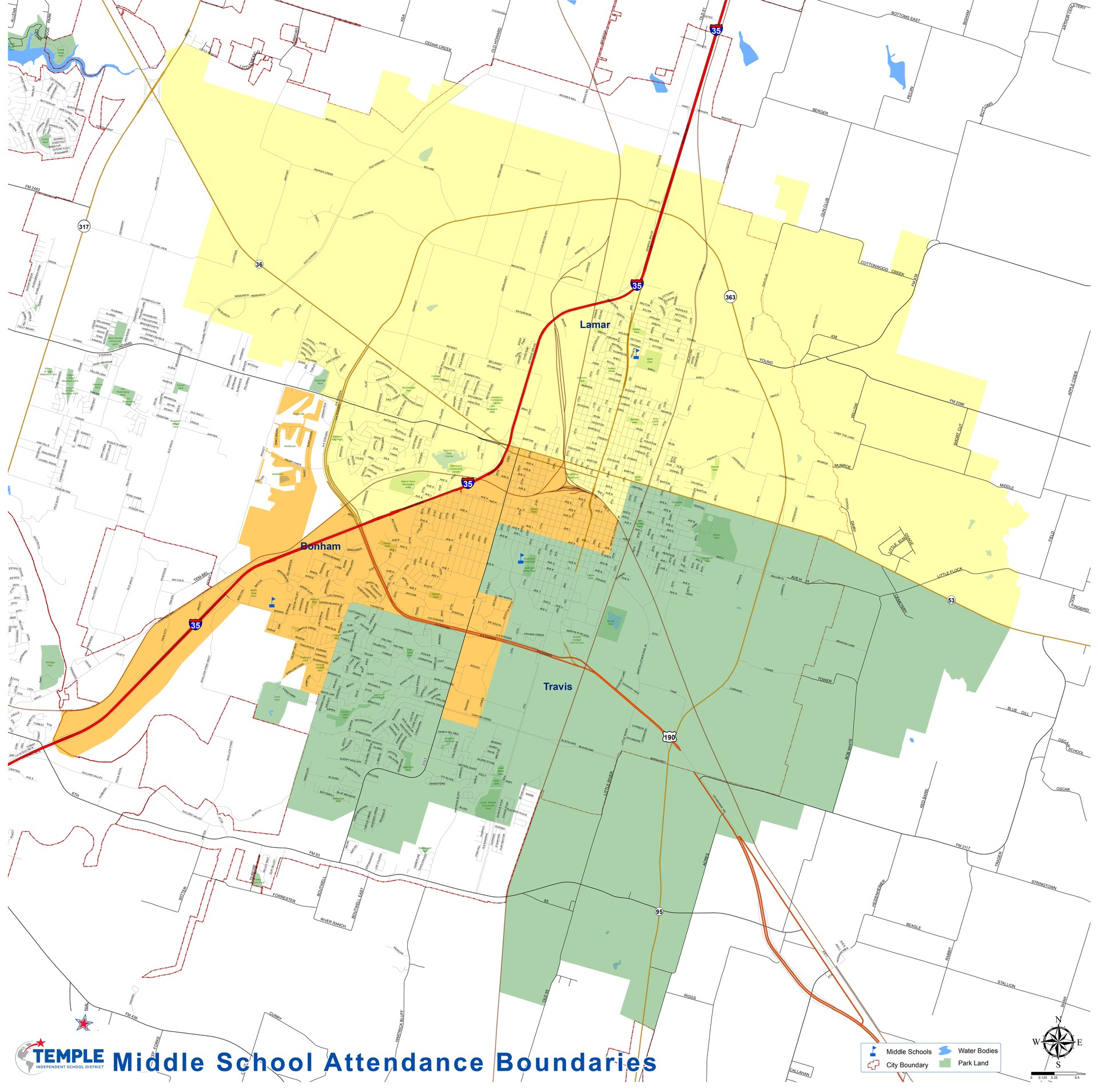 Middle School Attendance Boundaries