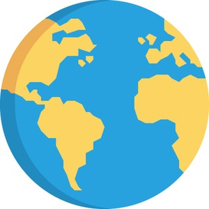 graphic of a globe representing the bilingual/esl department