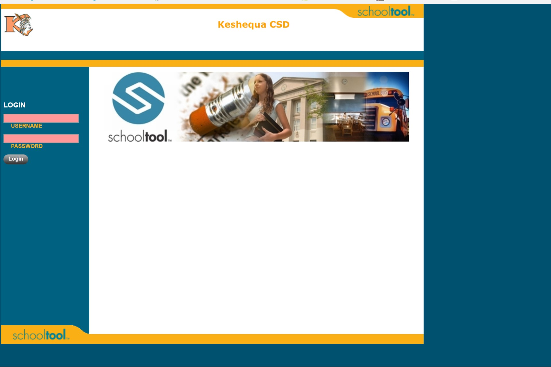 Picture of SchoolTool Login Page