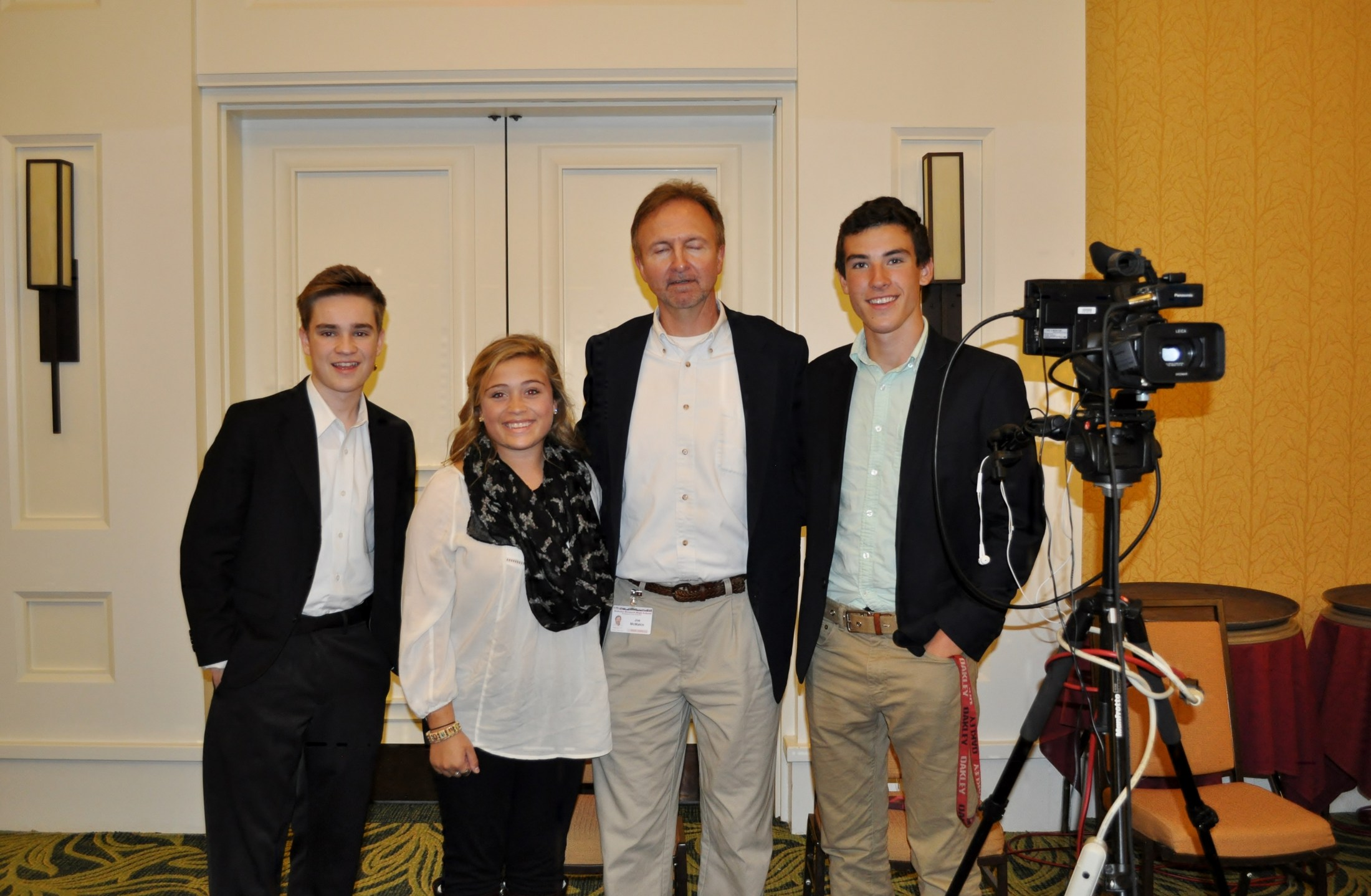 DBHS Broadcasting teacher Joe McMakin & students