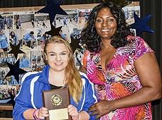 WNBA all-star Kym Hampton presents Sports Awards