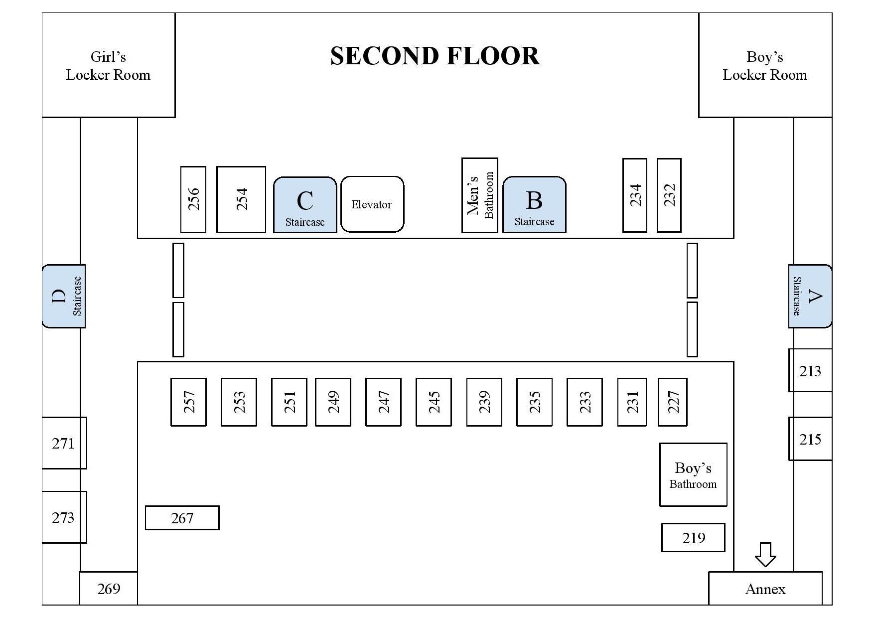 Campus Map- Second Floor
