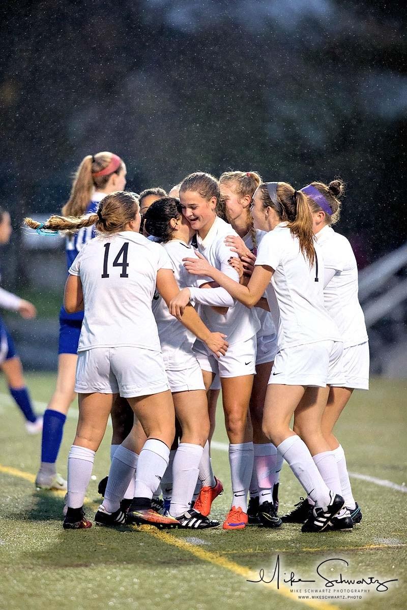 CHS girls soccer team celebrates after a goal