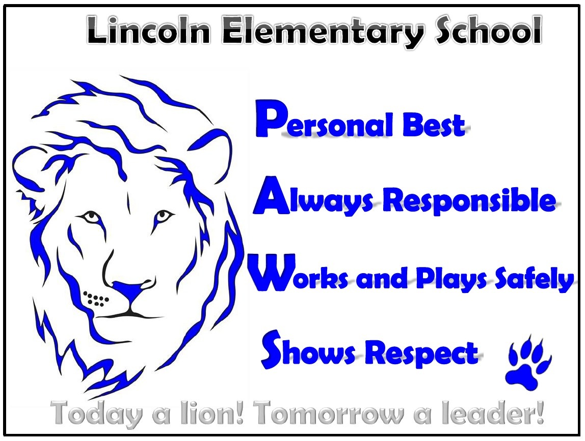 Lincoln Lion Logo PAWS Expectations