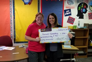 Oversize check for classroom grant.