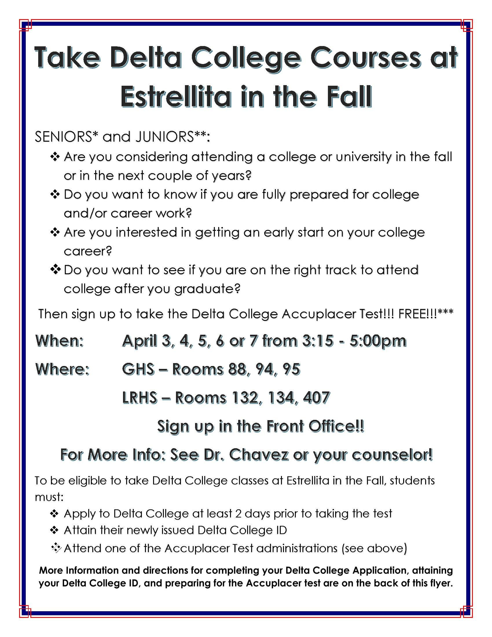 College Courses at EHS Page 1