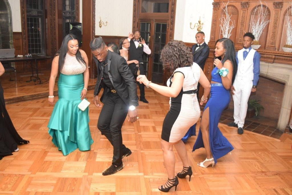 Invictus High School students on the dance floor