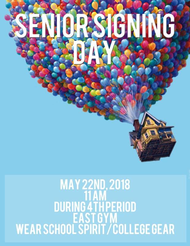 Senior Signing Day - Tuesday, May 22 at 11 am Thumbnail Image