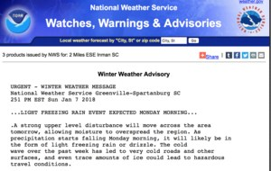 Picture of NWS report