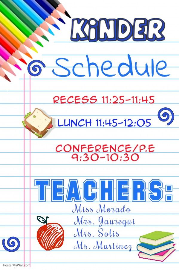 Kinder Schedule