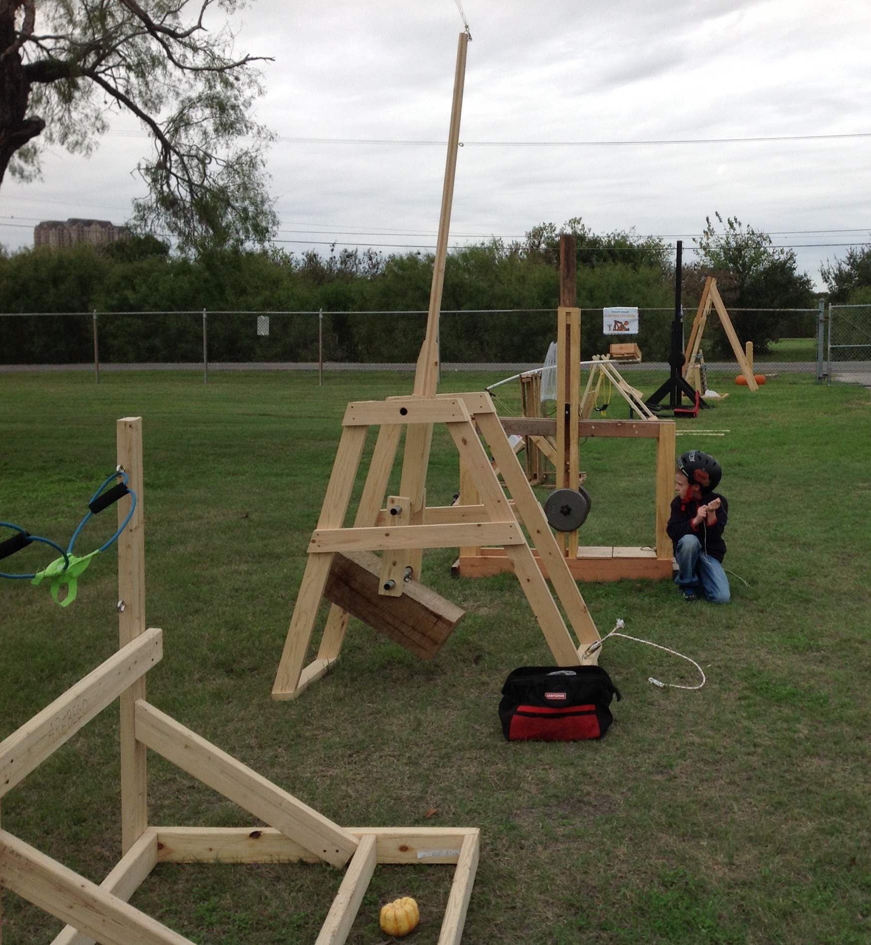 Trebuchets Built for Annual Pumpkin Chunkin' Event