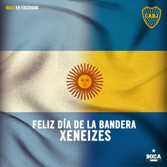 Picture of Argentine Flag/Boca Juniors emblem mixed