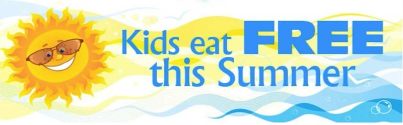 Kids eat free this summer banner
