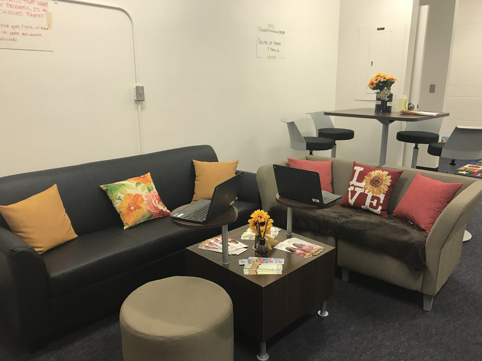 Lounge Area of the Parent Center