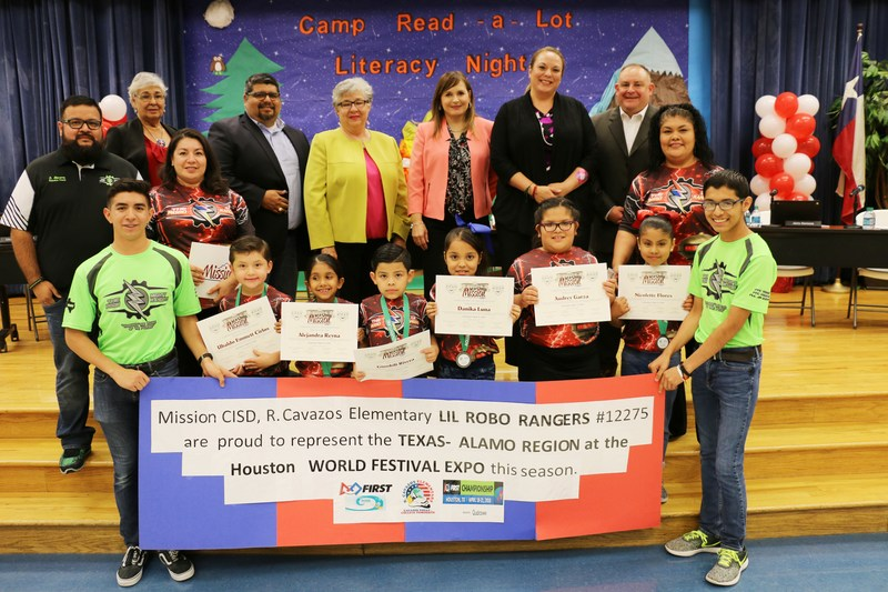 Cavazos Elementary LiL Robo-Rangers were recognized at the April Board Meeting.