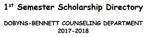 Scholarship Directories