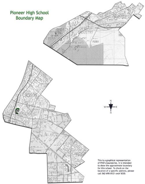 PHS School Boundaries Map