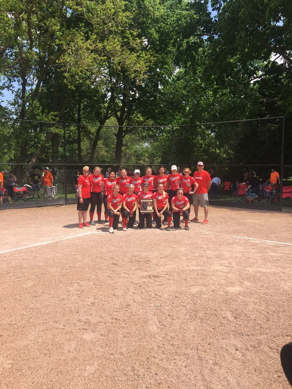 Heyworth Softball Team On the Field after their win
