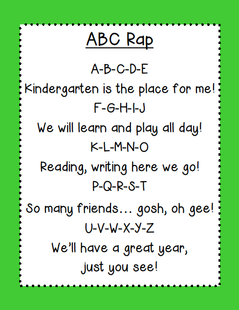 Image result for kindergarten poem