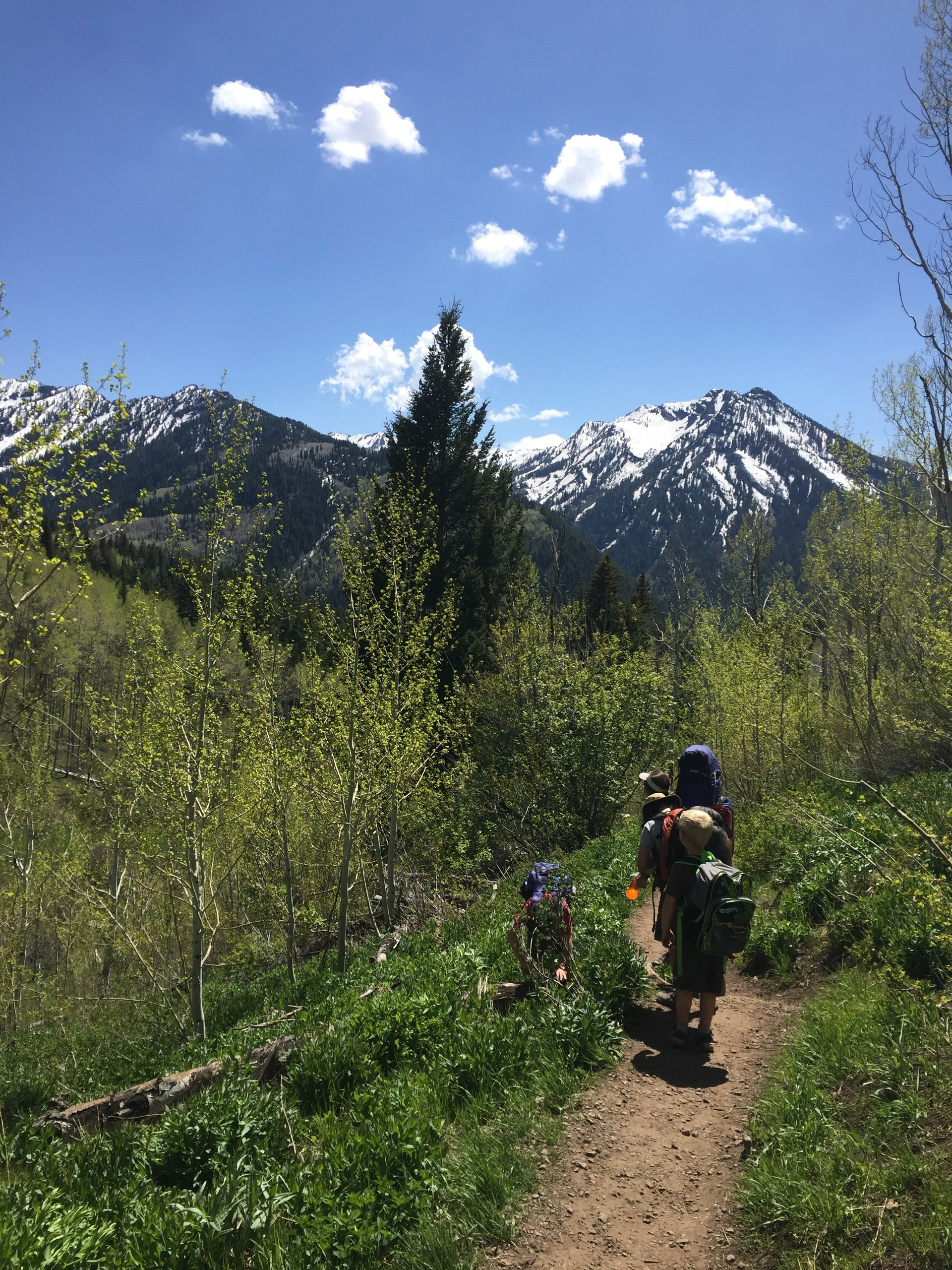 Backpacking with the kids in the Wasatch
