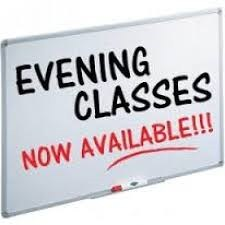 Evening Classes Now Available!