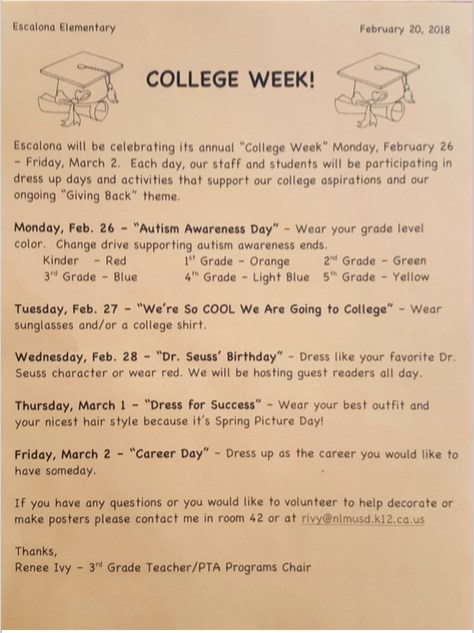 College Week February 26, 2018 - March 2, 2018 Featured Photo