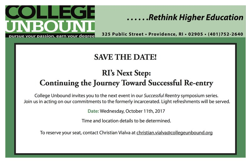 College Unbound to host 3rd Successful Reentry Symposium Featured Photo