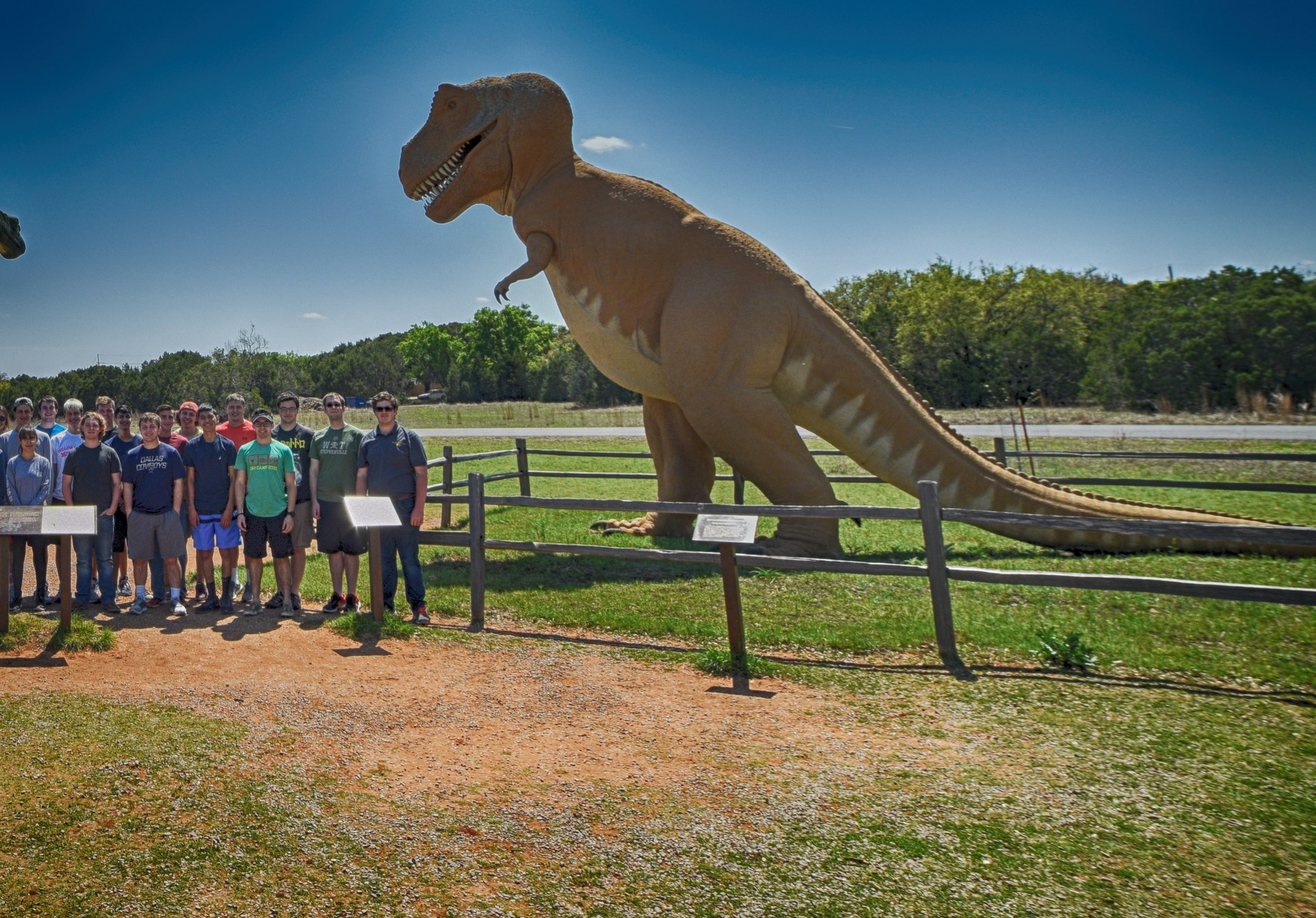 WIT members at Dinosaur Valley State Park