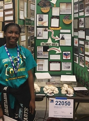 BPUSD_History_1: Jones Junior High School seventh-grader Silence Jackson, inspired by stories told about her grandmother's life, took home a championship prize at the California State History Day competition on May 5-6.