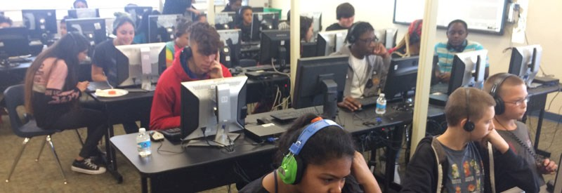 Students Participate in 'Hour of Code' for Computer Science Week Featured Photo