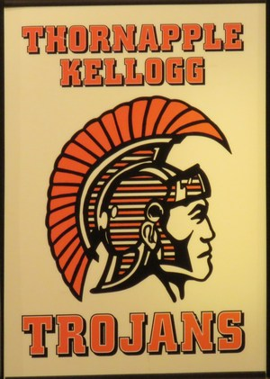Thornapple Kellogg High School Trojans mascot.