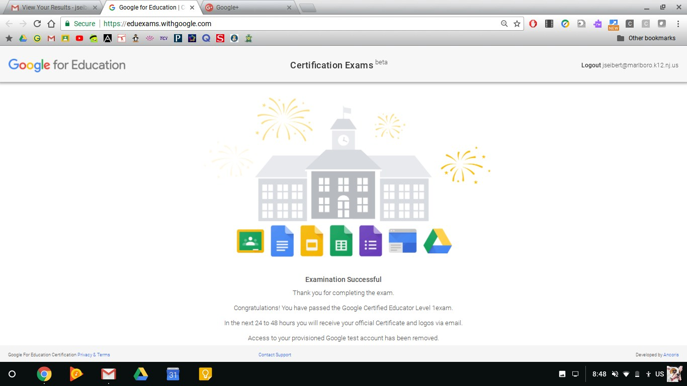I am Google Certified!